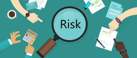 chance: risk management asset vulnerability assessment concept vector