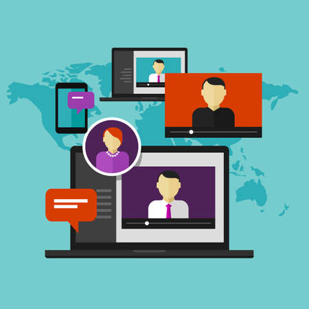 aprendizaje: la educación a distancia en línea vectorial concepto de la educación la formación webinar e-learning