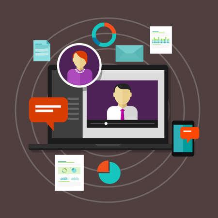 red informatica: la educación a distancia en línea vectorial concepto de la educación la formación webinar e-learning