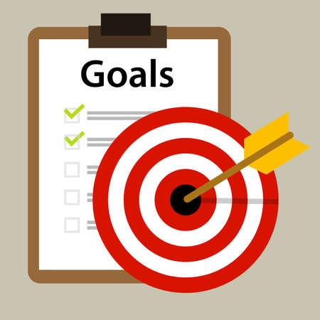 metas: metas propuestas vector icono estrategia de negocio de concepto de éxito de vectores