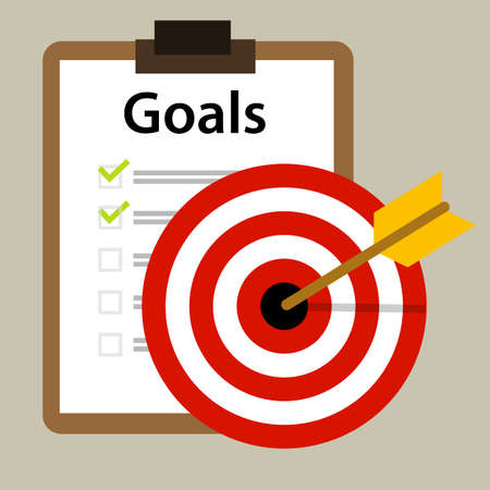 goals: target goals vector icon success business strategy concept vector
