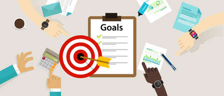 success business: target goals vector icon success business strategy concept vector