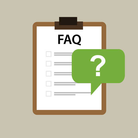 frequently asked question: faq frequently asked question icon vector mark paper
