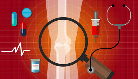 arthritis joint bone problem health care illustration rheumatoid vector Vettoriali