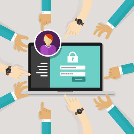 Sicherung des Zugangs von authorize Software-Authentifizierung Passwort an Systemsicherheit vector Standard-Bild - 46575608