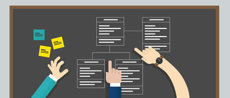 unified: use case diagram uml unified modeling language vector
