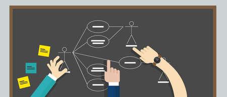 use case diagram uml unified modeling language vector