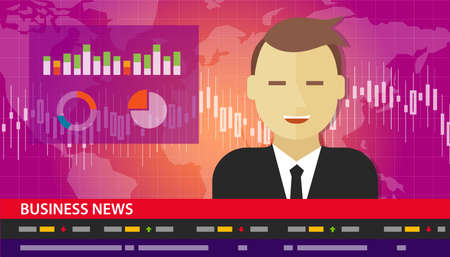 news background: tv anchor news business report diagram chart vector