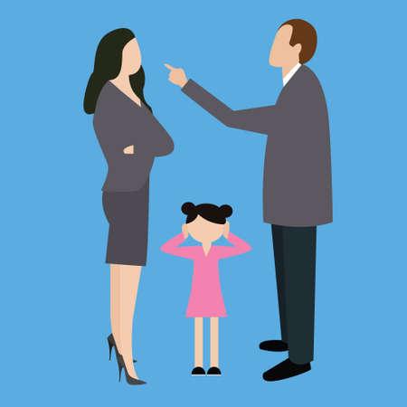 parejas amor: hombre mujer pareja de padres lucha argumentar argumentando en niños delanteros