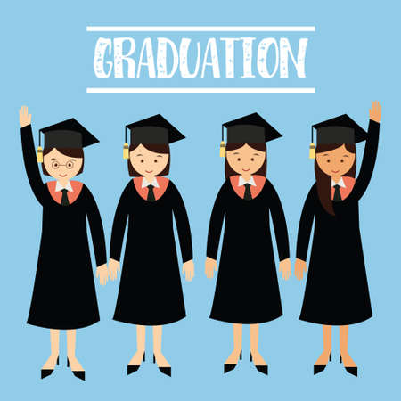 graduate: graduation gawn college university studenta girls wearing cap graduate