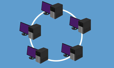 lan: ring network topology LAN design networking hardware connected