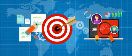 online strategy measure manage internet traffic target chart vector
