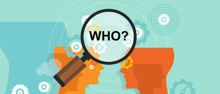guess: who question mark business question concept decision strategy Illustration