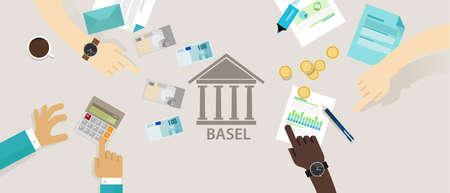 comit� d entreprise: Comit� d'accord de B�le sur le cadre r�glementaire de surveillance bancaire internationale pour les banques vecteur