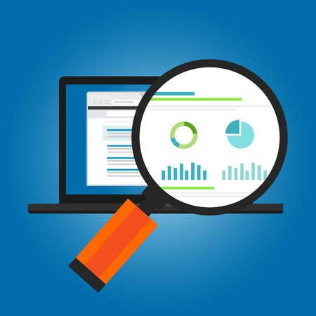 anuncios en línea número de conversión visitante del sitio Web de tráfico analítica gráfico estadístico de informe de sesión del vector Ilustración de vector