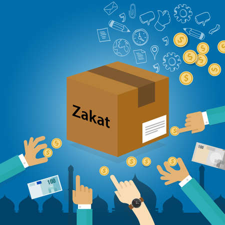zakat giving money to the poor islam concept religious tax charity
