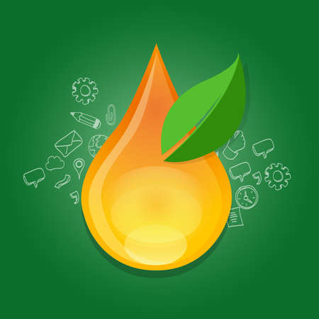 consumption: biofuel bio fuel ethanol green energy alternative oil gasoline efficient fuel gas consumption droplet water drop