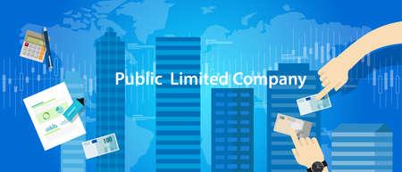 formations: PLC Public Limited company concept illustration