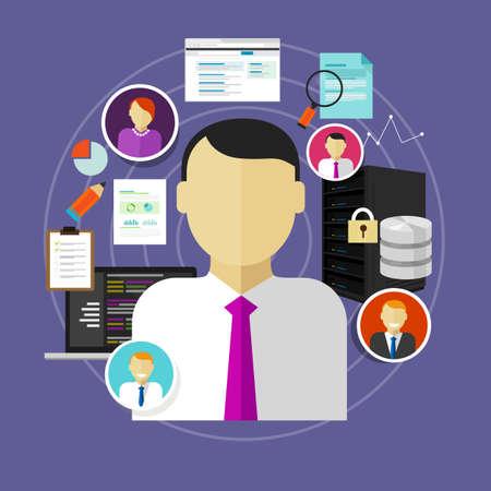 carrière in de IT-informatie-technologie van chief information officer naar beheerder personeel en programmeur positie