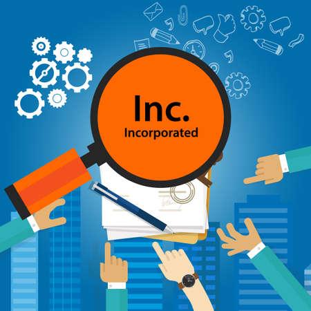 Inc incorporé Types de société d'organisation de l'entreprise entité