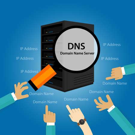 private domain: DNS Domain Name System Server illustration technology Illustration