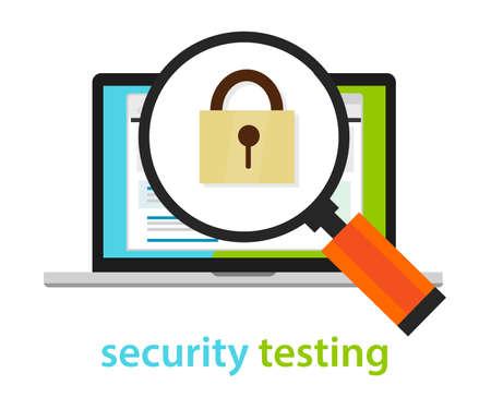 security testing software development process methodology  イラスト・ベクター素材