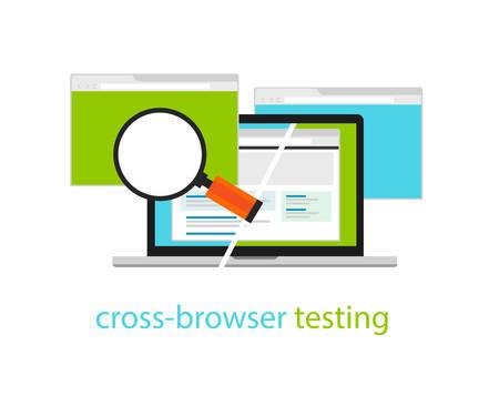 methodology: cross browser testing web software development process methodology Illustration