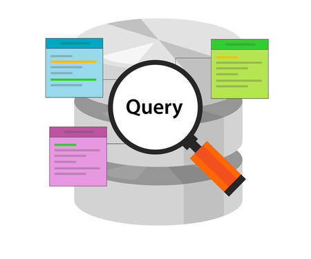 query: database query data code select table symbol vector illustration concept flat Illustration