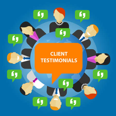 opinion: client testimonials consumer feedback service opinion vector