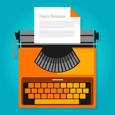 Pressemitteilung Nachrichten Papier Publikation Illustration Konzept Symbol Vektor Vektorgrafik
