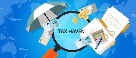 Belastingparadijs land financiën zaken illustratie geld bescherming vector Stockfoto - 55514097