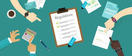 Regulierung Gesetz Standard Corporation Dokument Anforderung Papier