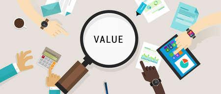 valor: propuesta de valor al cliente concepto de vectores icono ilustración imagen