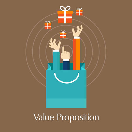proposition: value proposition customer concept hands vector relationship Illustration