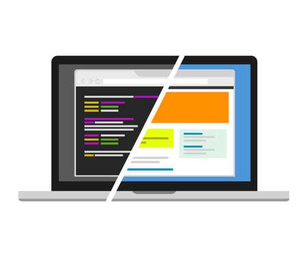 web design code designer programmer editor source code vosual