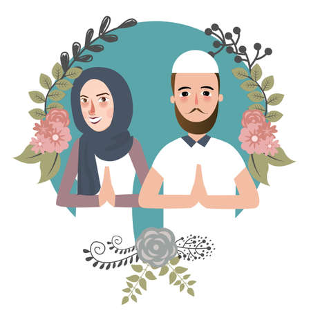 salam: couple muslem islam greetings ramadhan ied as for forgiveness salam marriage