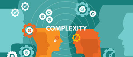 complexity: complexity concept illustration head thinking brain