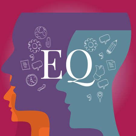 EQ emotionale Quotient Intelligenz Illustration Testkonzept
