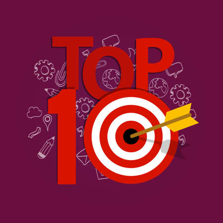 strategic focus: top ten 10 list winner achievement target best illustration