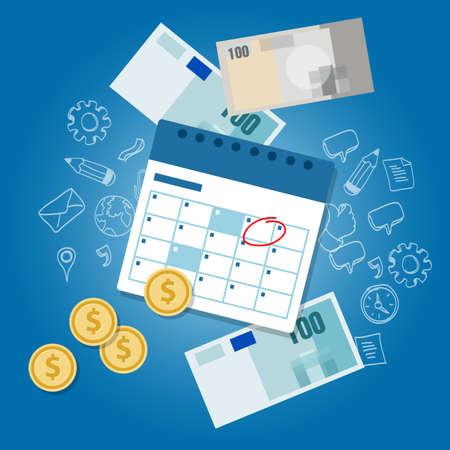 calendrier de paiement calendrier des jours délai de dépannage de l'argent