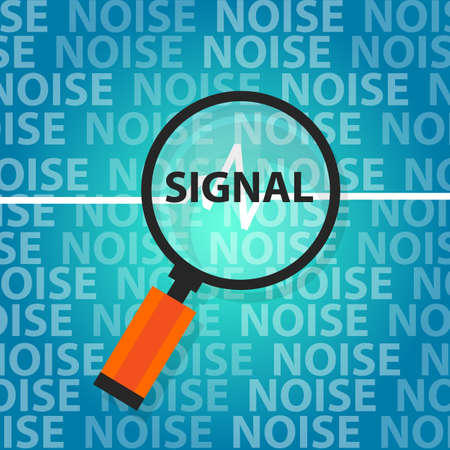 all right: signal to noise ratio find right information above all unimportant data vector Illustration