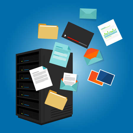 servers: file server data such as document image video email folder