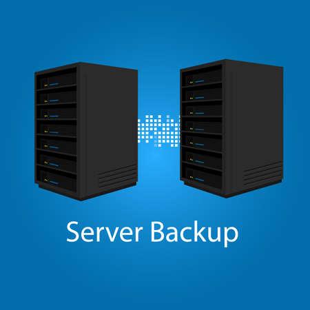 dos servidores espejo redundancia de respaldo para la recuperación y el rendimiento