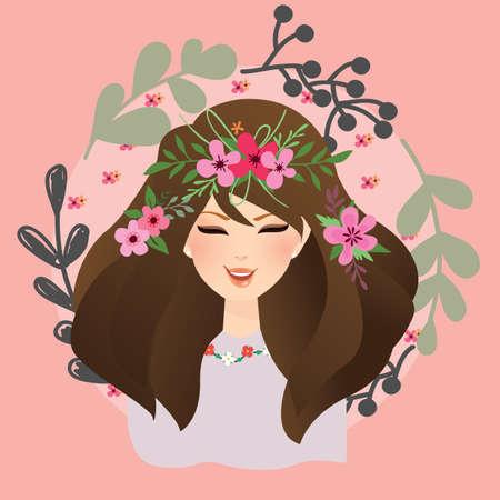 gypsy woman: woman with flower around her head bohemian gypsy style