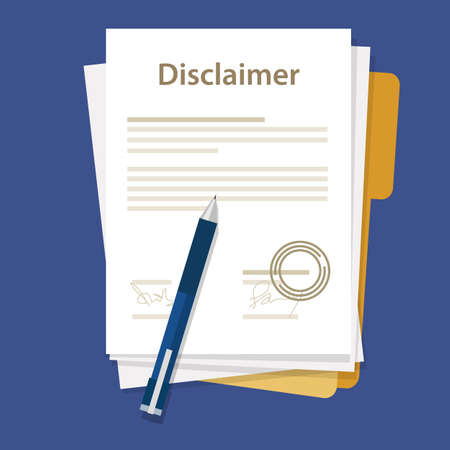 disclaimer document paper legal aggreement signed stamp paper