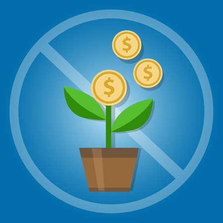 Verbot von Zinsen und Zinseszinsen in Islamic Banking Geld Investition Vektor Vektorgrafik