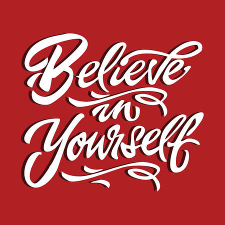 believe in yourself: believe in yourself quote motivational poster typography card vector