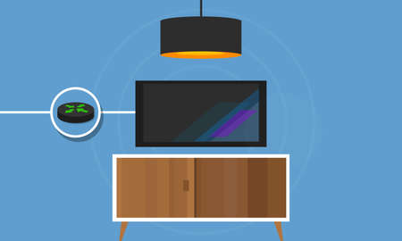 ip: IP TV connected TV to internet protocol digital vector