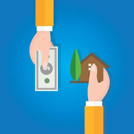 Acheter maison prix de l'immobilier transaction main vente Banque d'images - 60961065