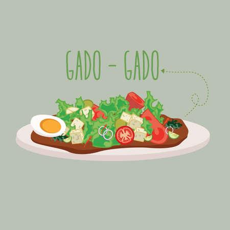 gado gado: gado-gado Indonesia traditional salad food culinary